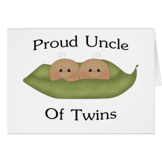 Proud Uncle Of Twins Greeting Cards