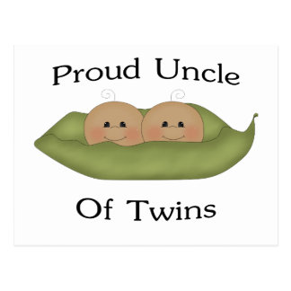 Proud Uncle Of Twins Postcard