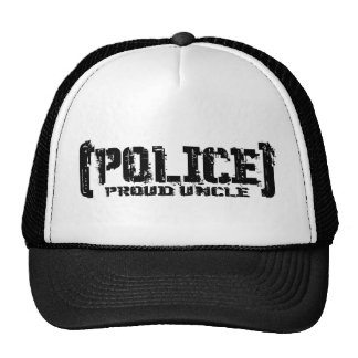 Proud Uncle- POLICE Tattered Trucker Hat