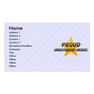 Proud Underwear Model Business Cards