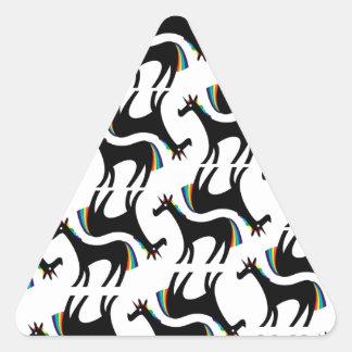 Proud Unicorn Triangle Sticker