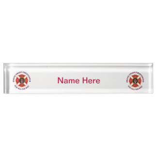 Proud Union Firefighter Nameplate