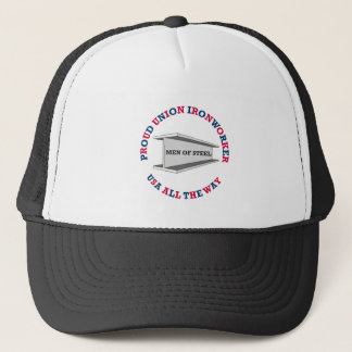 Proud Union Ironworker Trucker Hat