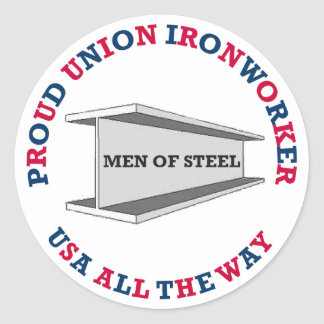 Proud Union Ironworker USA Sticker