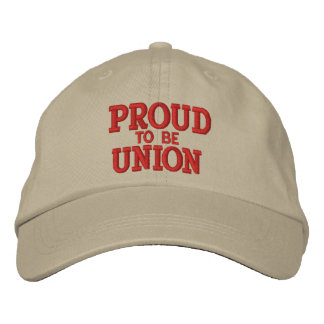 PROUD UNION MEMBER EMBROIDERED BASEBALL HAT