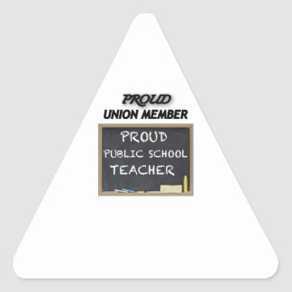 PROUD UNION TEACHER TRIANGLE STICKER