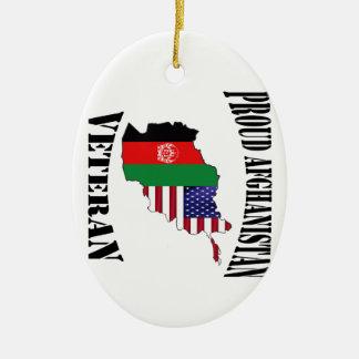 Proud US Afghanistan veteran Ceramic Ornament