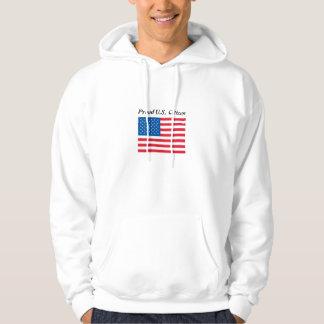 Proud US Citizen & flag Hooded Sweatshirt T-shirt