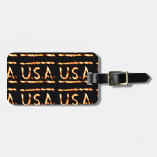 Proud USA Gold Feel Confident Display Commitment Tag For Luggage