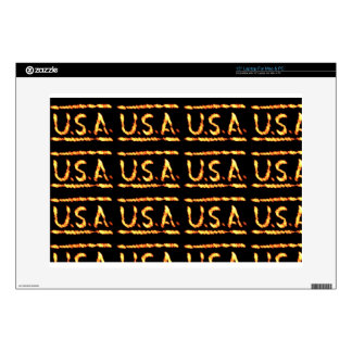 """Proud USA Gold Feel Confident Display Commitment 15"""" Laptop Skins"""