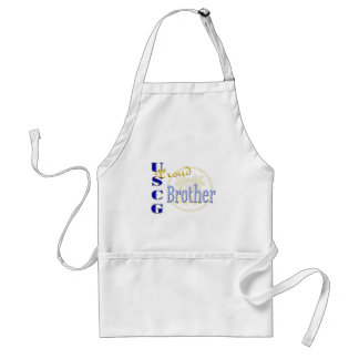 Proud USCG Brother Adult Apron
