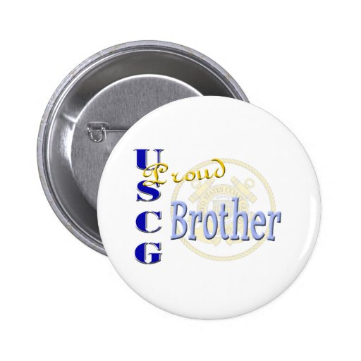 Proud USCG Brother Buttons