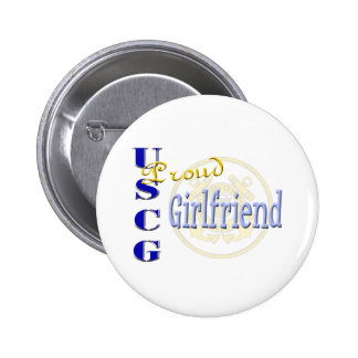 Proud USCG Girlfriend Buttons