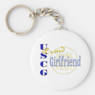 Proud USCG Girlfriend Keychain