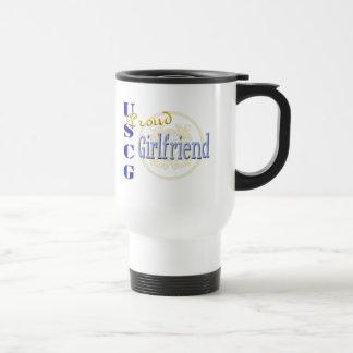 Proud USCG Girlfriend Travel Mug