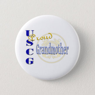 Proud USCG Grandmother Button