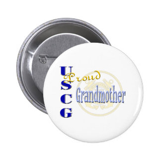 Proud USCG Grandmother Button