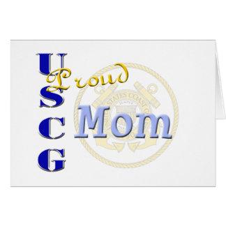 Proud USCG Mom Card