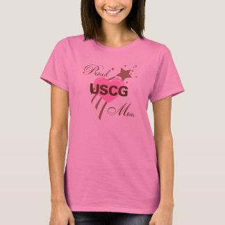 Proud USCG Mom Heart T-Shirt