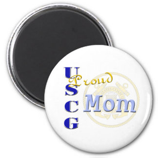 Proud USCG Mom Fridge Magnets