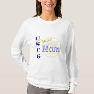 """Proud USCG Mom"" Military Ladies Shirt"