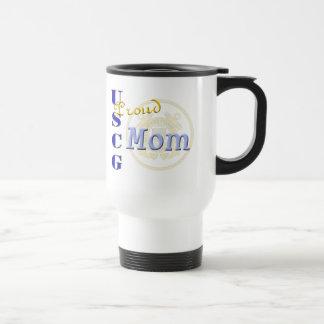 Proud USCG Mom Travel Mug