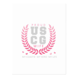 Proud USCG Wife Crest Postcard