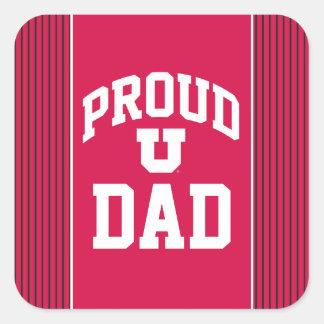 Proud Utah Dad Square Sticker
