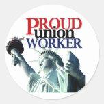 Proud UW Classic Round Sticker