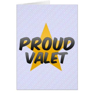 Proud Valet Greeting Card