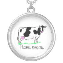 Proud vegan necklace