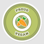 Proud Vegan Round Sticker