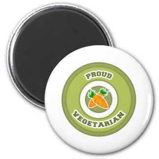 Proud Vegetarian 2 Inch Round Magnet