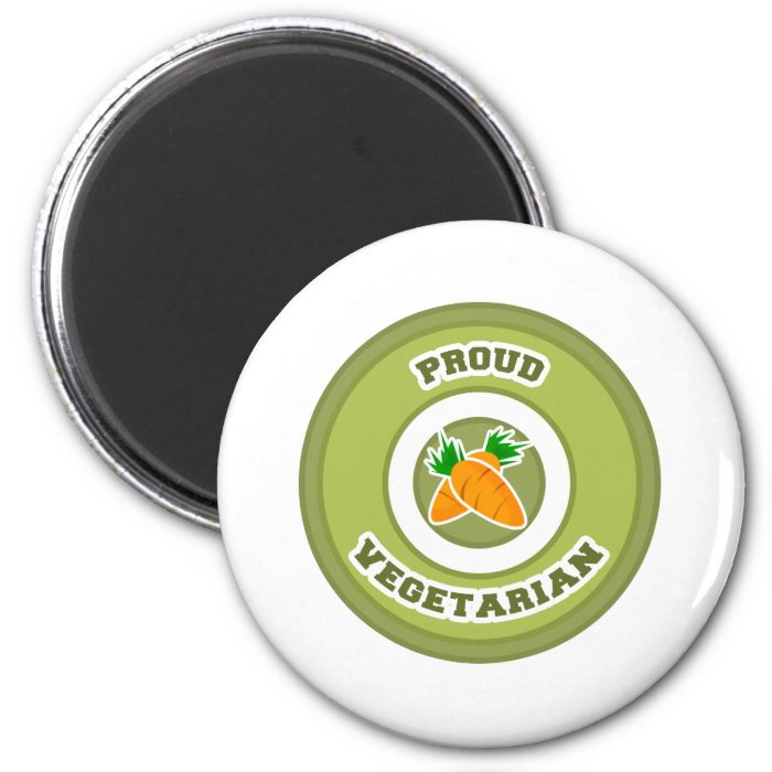 Proud Vegetarian 2 Inch Round Magnet