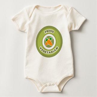 Proud Vegetarian Baby Bodysuit