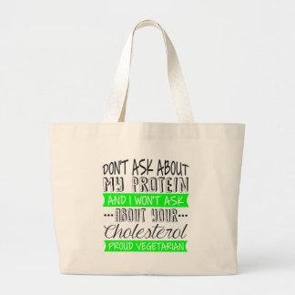 proud vegetarian. jumbo tote bag