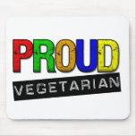 Proud Vegetarian Mouse Pad