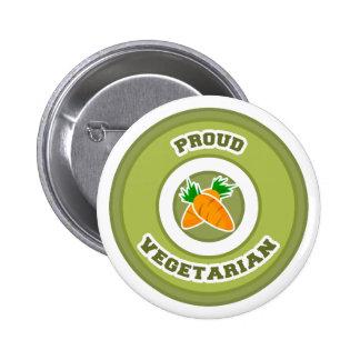 Proud Vegetarian Pinback Button