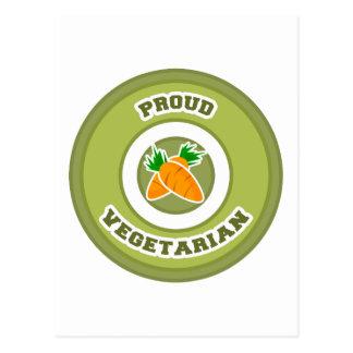 Proud Vegetarian Postcard
