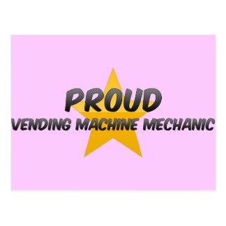 Proud Vending Machine Mechanic Postcard