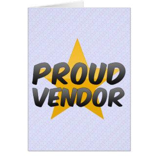 Proud Vendor Card