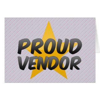 Proud Vendor Greeting Cards