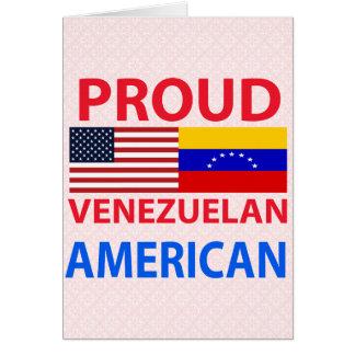 Proud Venezuelan American Greeting Card
