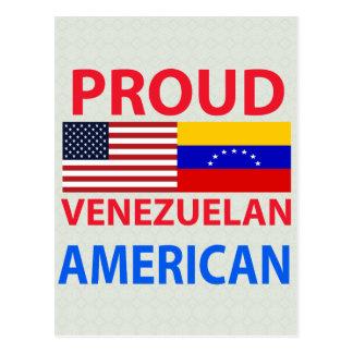 Proud Venezuelan American Postcard