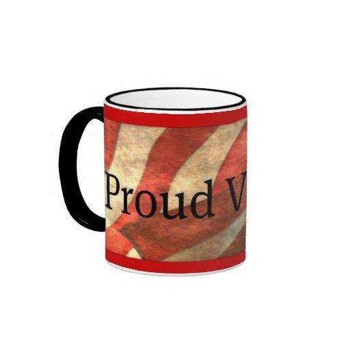Proud Veteran, American Flag Mug mug