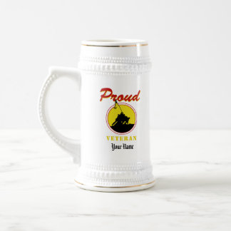 Proud Veteran Beer Stein, Personalized Beer Stein
