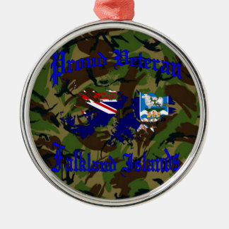 Proud veteran…. Falklands Metal Ornament