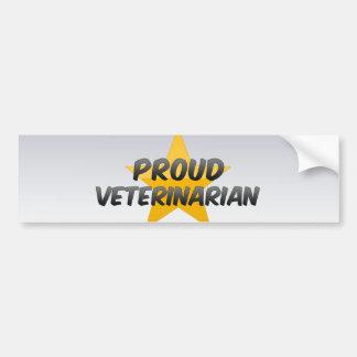 Proud Veterinarian Car Bumper Sticker