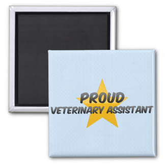 Proud Veterinary Assistant 2 Inch Square Magnet