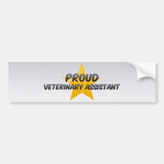 Proud Veterinary Assistant Car Bumper Sticker